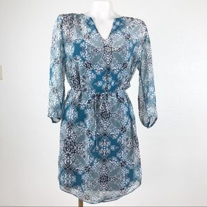 Banana Republic medallion paisley sheer dress
